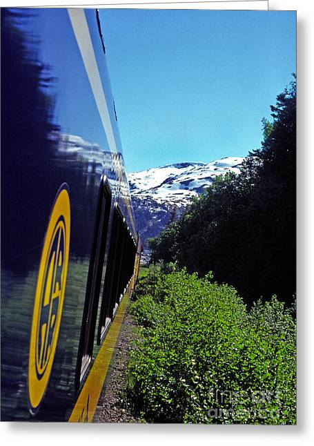 Alaska Railroad Anchorage To Whittier Route Greeting Card by Thomas R Fletcher