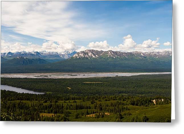 Alaska Range Greeting Card by Chris Heitstuman