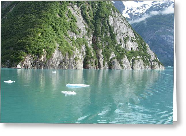 Alaska Teal Tranquility Greeting Card