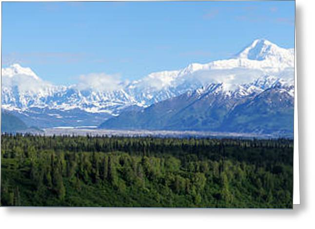 Alaskan Denali Mountain Range Greeting Card