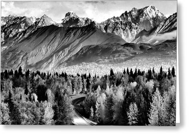 Alaskan Mountains Greeting Card