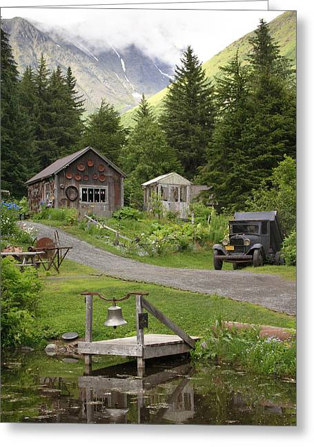 Alaskan Pioneer Mining Camp Greeting Card