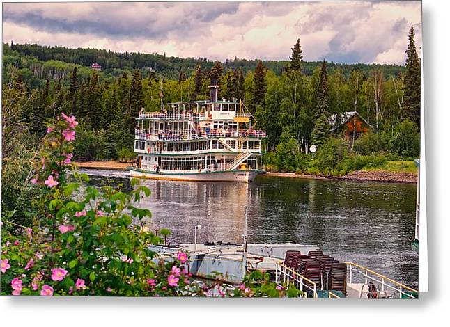 Greeting Card featuring the photograph Alaskan Sternwheeler The Riverboat Discovery by Michael Rogers