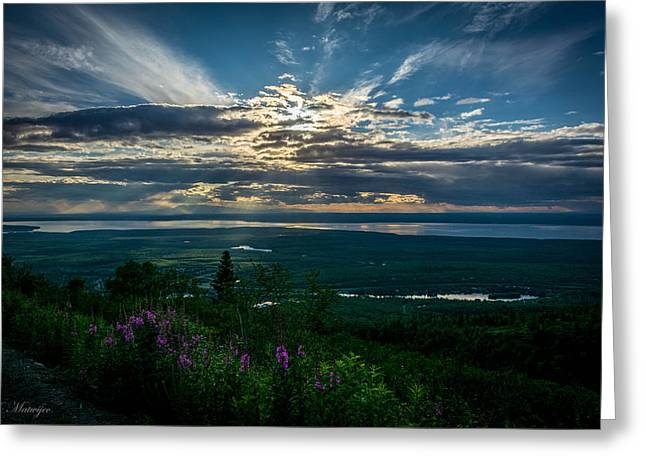 Alaskan Summer Sunset Greeting Card