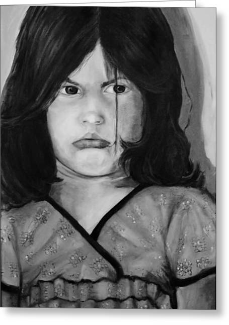 Alayna Off Center Greeting Card by Jean Cormier
