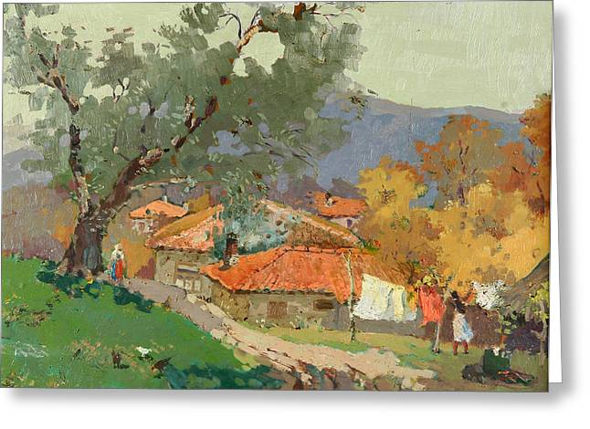 Albanian Countryside Greeting Card by Ylli Haruni