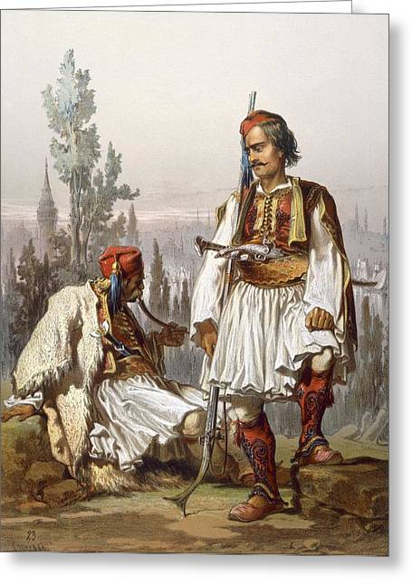 Albanians, 1865 Greeting Card