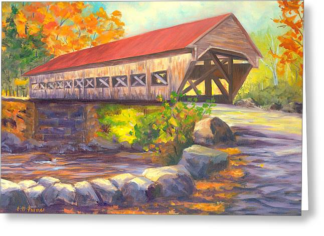 Albany Covered Bridge #49, New Hampshire Greeting Card