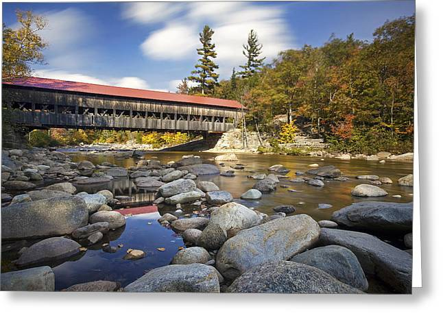 Albany Covered Bridge Greeting Card by Eric Gendron