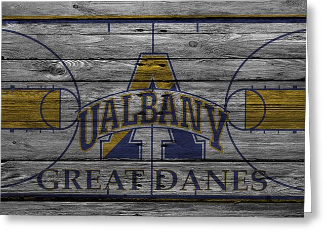 Albany Great Danes Greeting Card by Joe Hamilton