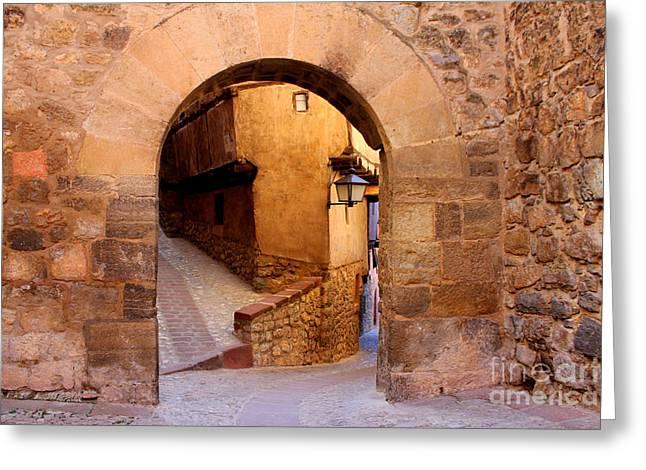Albarracin Charm Greeting Card by Nieves Nitta