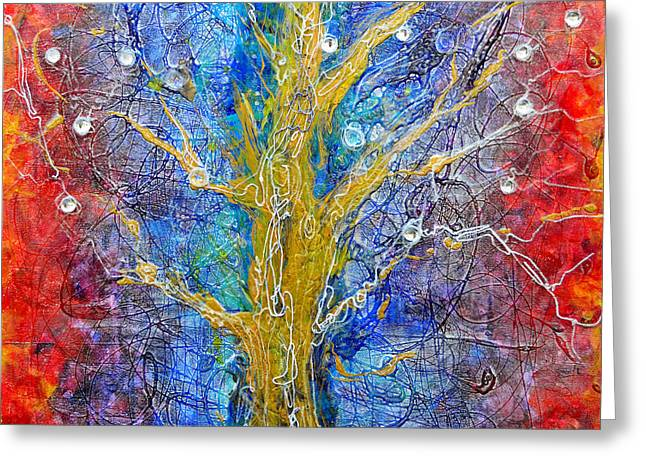Albedo Tree Of Life 8 Greeting Card by Regina Valluzzi