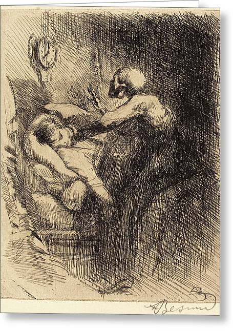 Albert Besnard, Punctual Ponctuelle, French Greeting Card