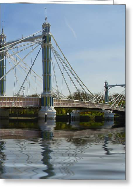 Albert Bridge London Thames  Greeting Card