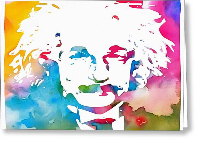 Albert Einstein  Greeting Card by Dan Sproul