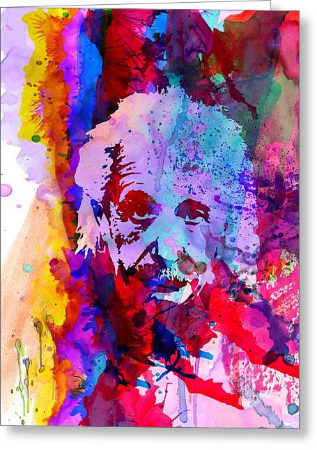 Albert Einstein Greeting Card by Naxart Studio