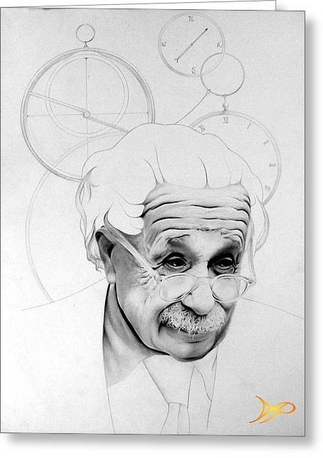Albert Einstein Greeting Card by Patrick Anthony Pierson
