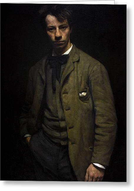 Albert Verwey 1865-1937. Dutch Poet. Portrait By Jan Veth 1864-1925 Greeting Card by Bridgeman Images