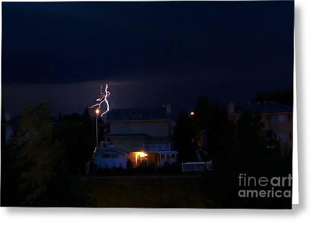 Alberta Lightning Viii Greeting Card by Al Bourassa