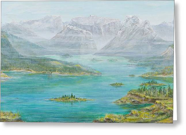 Alberta Rocky Mountains Greeting Card by Cathy Long