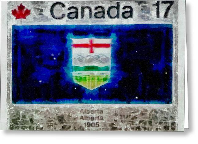 Alberta Views Greeting Card by Mario Carini