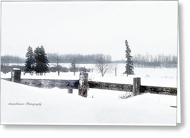 Alberta Winter Wonderland Greeting Card by Donna Brown