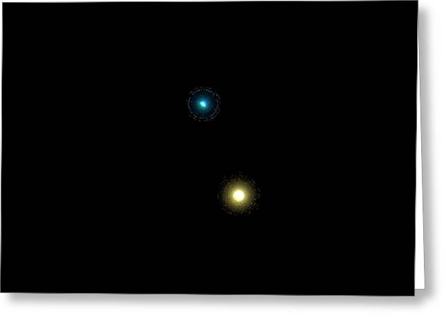 Albireo Double Star System Greeting Card by Damian Peach