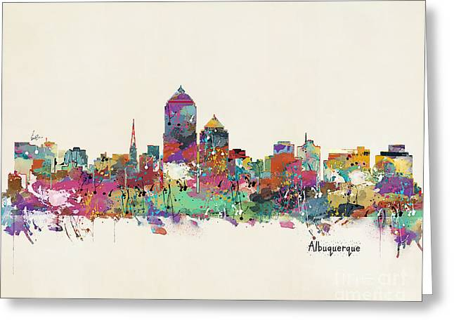 Albquerque New Mexico Skyline Greeting Card