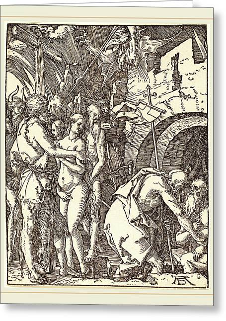 Albrecht Dürer German, 1471-1528, Christ In Limbo Greeting Card by Litz Collection