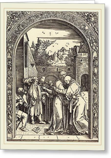 Albrecht Dürer German, 1471-1528, Joachim And Anna Greeting Card by Litz Collection