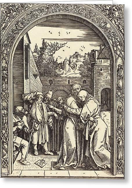 Albrecht Dürer German, 1471 - 1528, Joachim And Anna Greeting Card by Quint Lox