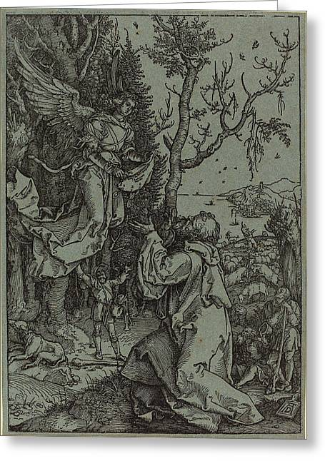 Albrecht Dürer German, 1471 - 1528, Joachim And The Angel Greeting Card by Quint Lox