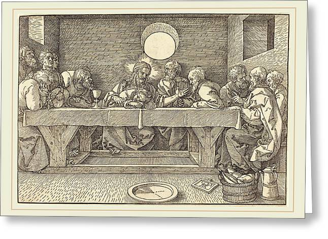 Albrecht Dürer German, 1471-1528, The Last Supper Greeting Card by Litz Collection