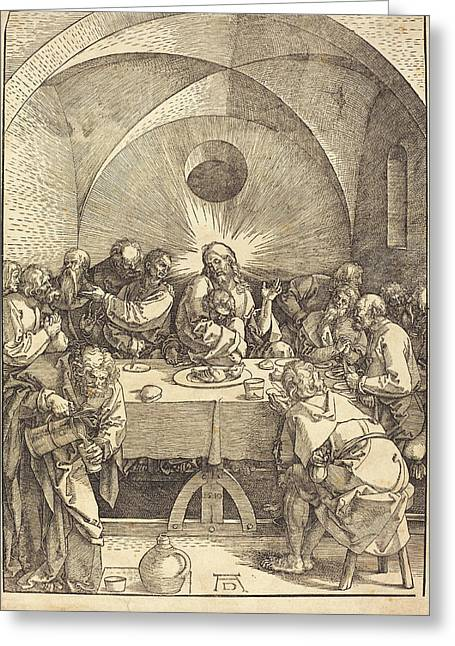 Albrecht Dürer German, 1471 - 1528, The Last Supper Greeting Card by Quint Lox