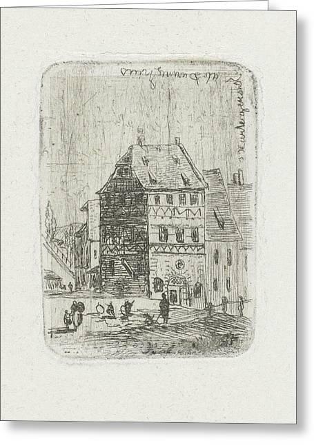 Albrecht Drer House In Nuremberg, Joseph Hartogensis Greeting Card by Joseph Hartogensis