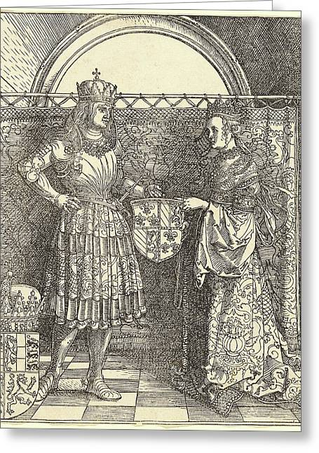 Albrecht Dürer, The Betrothal Of Maximilian With Mary Greeting Card