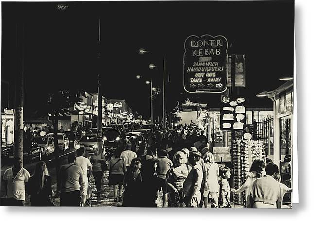 Albufeira Street Series - Doner Kebab I Greeting Card by Marco Oliveira