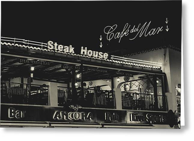 Albufeira Street Series - Steak House Greeting Card by Marco Oliveira