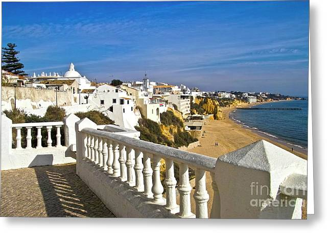 Albufeira Village By The Sea Greeting Card by Heiko Koehrer-Wagner