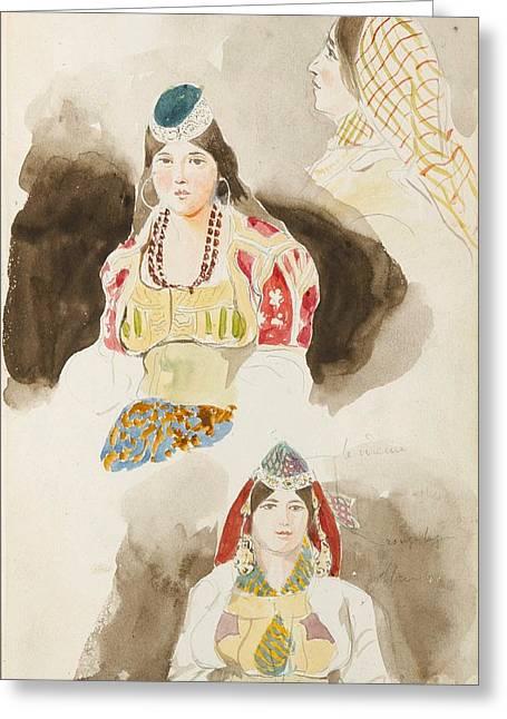 Album De Voyage Au Maroc Greeting Card by Eugene Delacroix