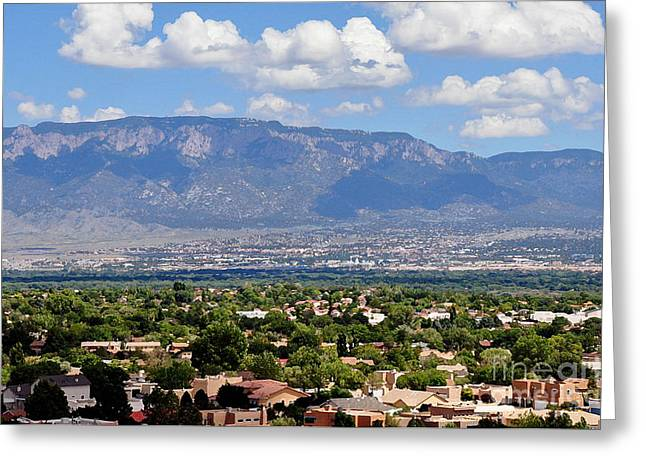 Albuquerque Greeting Card by Gina Savage