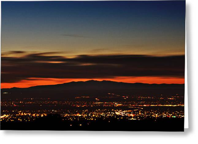 Albuquerque Sunset Greeting Card