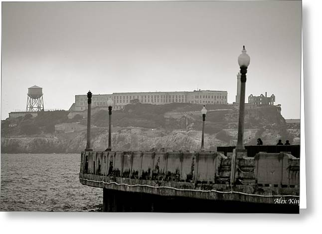 Greeting Card featuring the photograph Alcatraz by Alex King