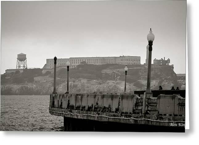 Alcatraz Greeting Card by Alex King