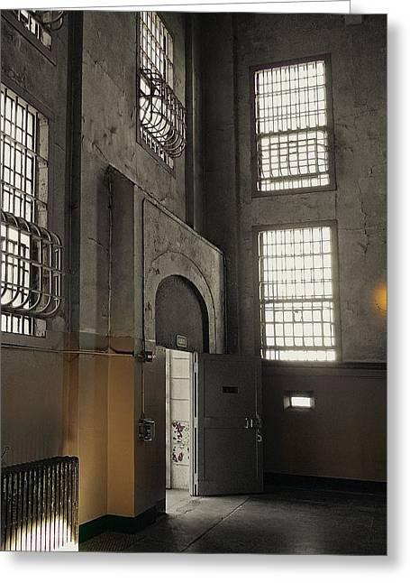 Alcatraz Doorway To Freedom Greeting Card by Daniel Hagerman