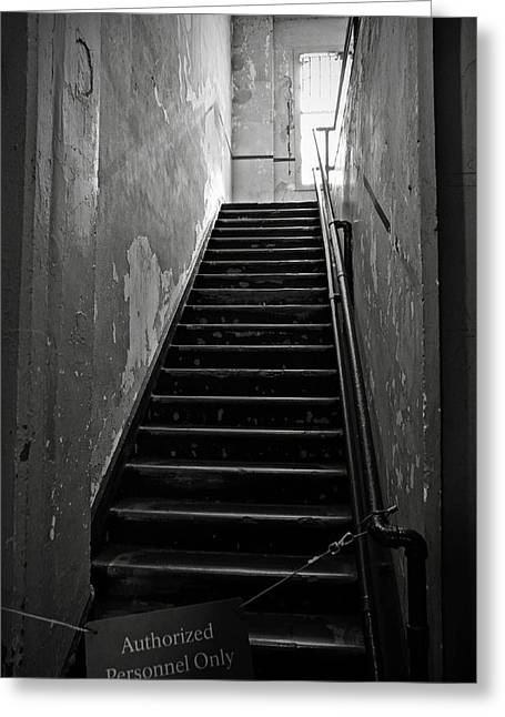 Alcatraz Hospital Stairs Greeting Card by RicardMN Photography