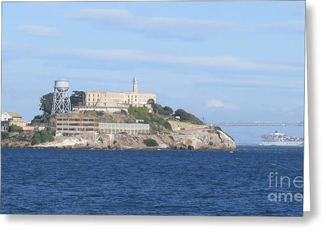 Alcatraz Island Greeting Card by Mary Mikawoz