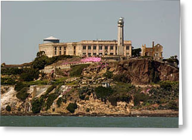 Alcatraz Panorama Greeting Card