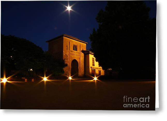 Alcazaba By Night Greeting Card