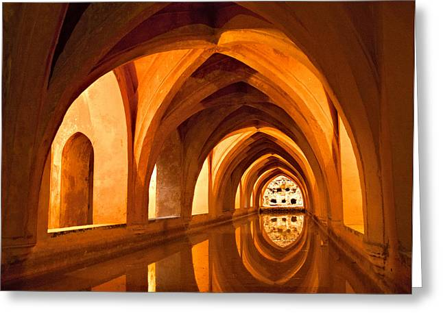 Alcazar Cave Galleries Seville Greeting Card by Viacheslav Savitskiy